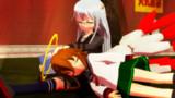 遊び疲れたゼナちゃんをあやす神無月【ゲームセンター泊地来訪記】