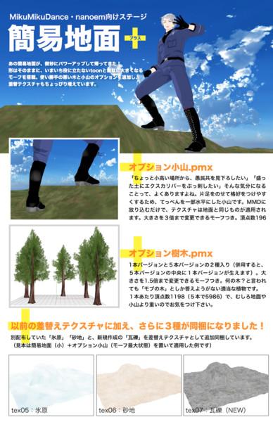 簡易地面+【MMDステージ配布】