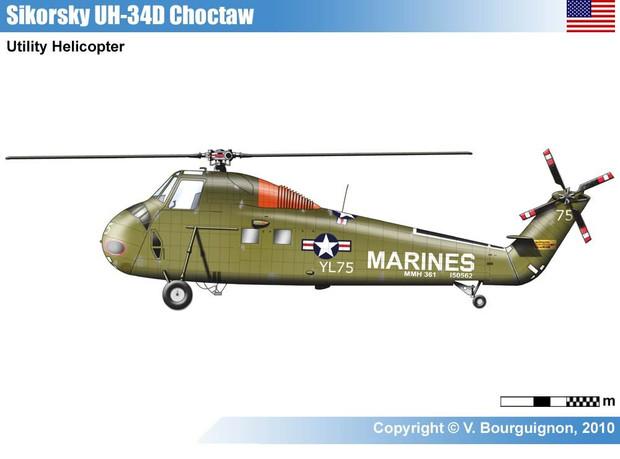 シコルスキー H-34 チョクトー/HUS シーホース (民間型S-58)