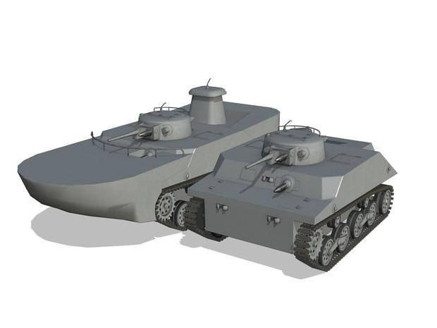 【MMDモデル配布】 IJN Ka-mi 特二式内火艇