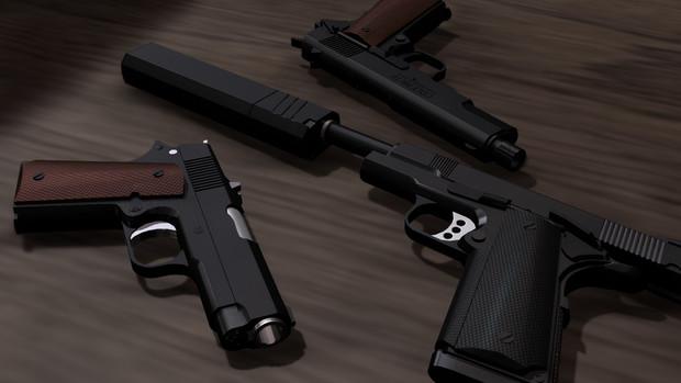 【MMD】M1911H.G.Edition組立キットVer.2【モデル配布】