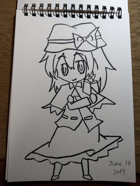 【練習】蓮子【模写】