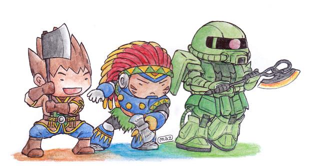 斧・戦士達