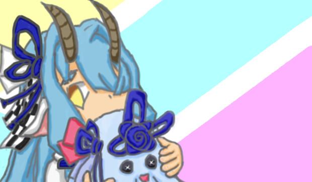 【マウスで】山羊の葵ちゃん【らくがき】