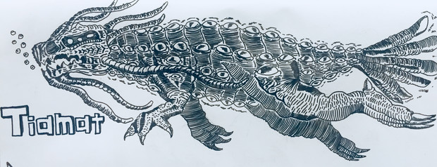 17体のタイタン-深海帝王獣ティアマト-