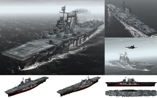 MMD用モブ航空母艦1943(モブトガ)セット