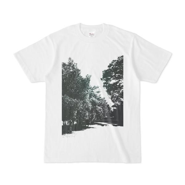 シンプルデザインTシャツ 木々