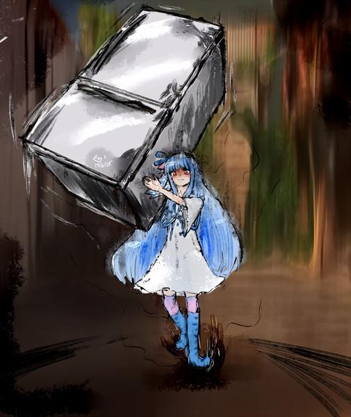 続々・壊し屋スタイル風な葵ちゃん(E:冷蔵庫)