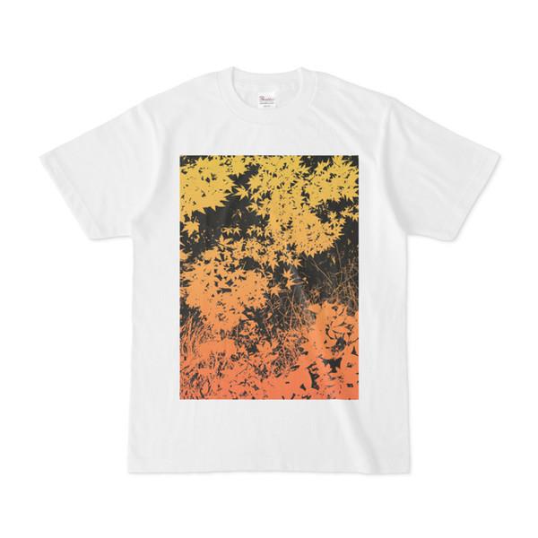 シンプルデザインTシャツ 黄色リーフ