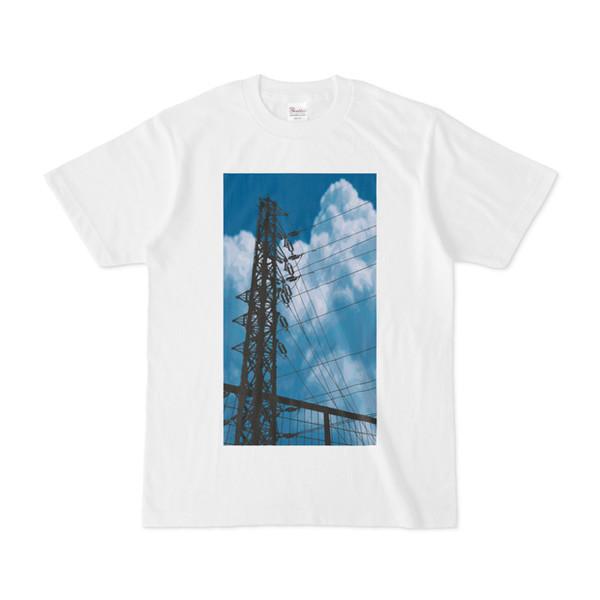 シンプルデザインTシャツ 鉄塔×フェンス