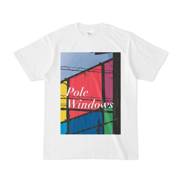 シンプルデザインTシャツ Pole Windows