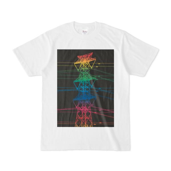 シンプルデザインTシャツ 虹鉄塔2