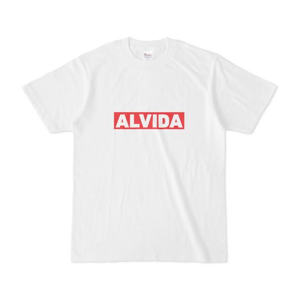 シンプルデザインTシャツ ロゴ ALVIDA