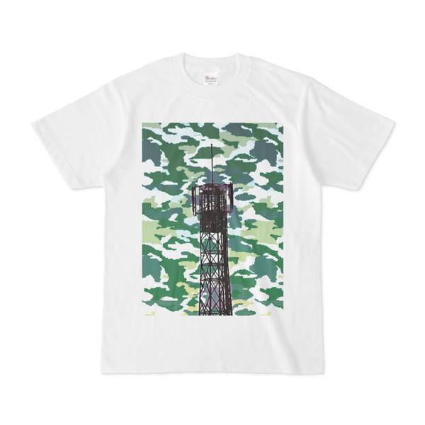 シンプルデザインTシャツ サイケ鉄塔