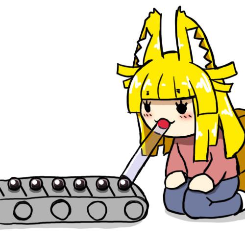 タピオカを食べる九尾さん