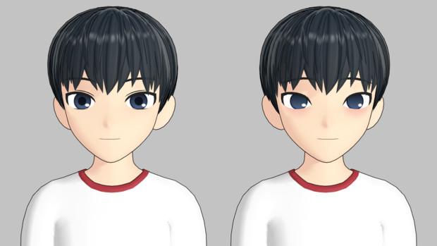 モーフでの顔つきの変化