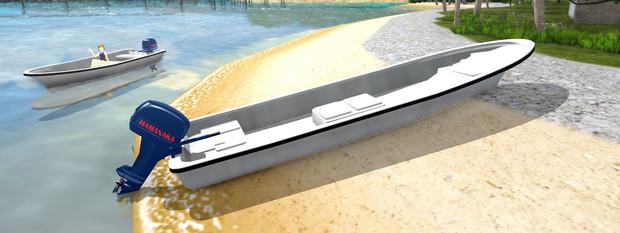 【MMD】和船と船外機R01【MMDモデル配布】