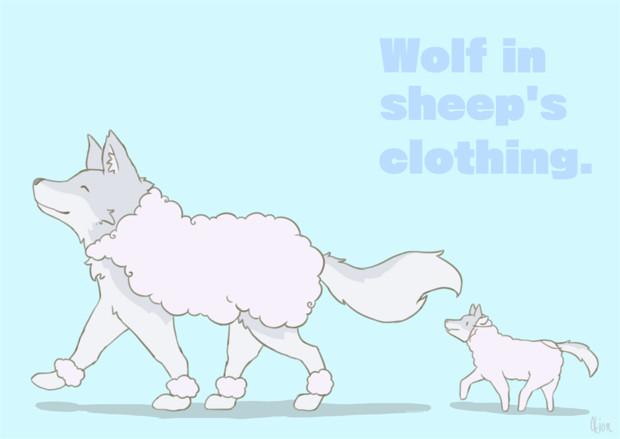 ヒツジの毛皮を被ったオオカミ