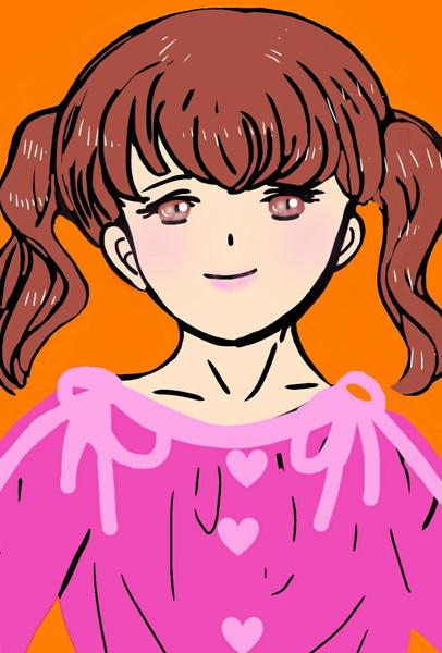 ピンク服の女の子