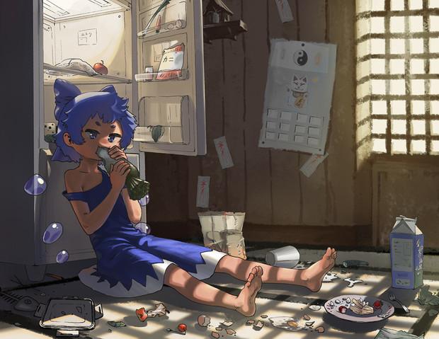 電気代のかからない冷蔵庫がほしいと霊夢が言ってたから