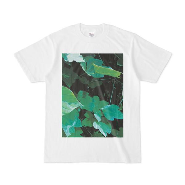 シンプルデザインTシャツ クズ葉っぱ