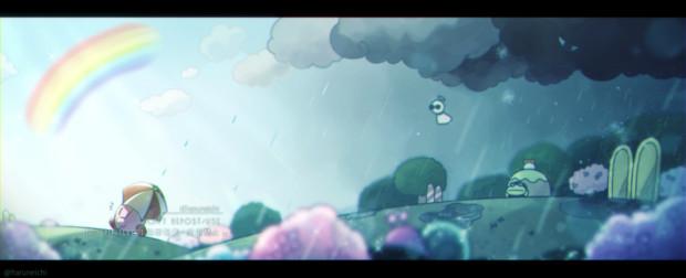 梅雨とカービィ