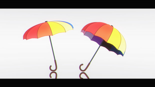 【MMDアクセサリ配布あり】傘
