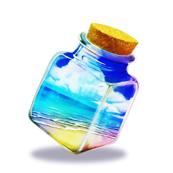 波打ち際の瓶詰め