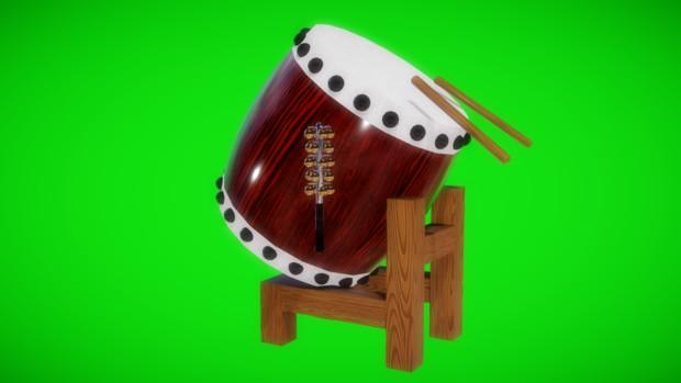 【MMDアクセサリ配布】和太鼓と何か鈴