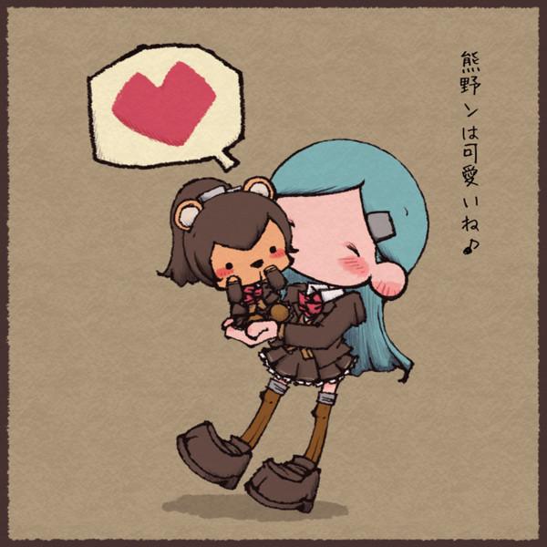 鈴谷にお姫様抱っこでちゅーされる熊野