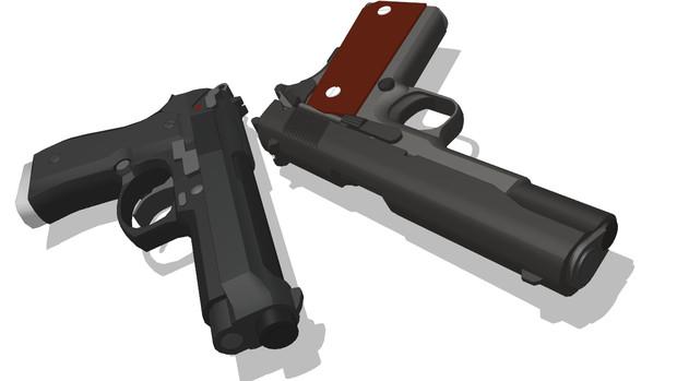 【MMDアクセサリ配布あり】M92&M1911(どっちもv2)