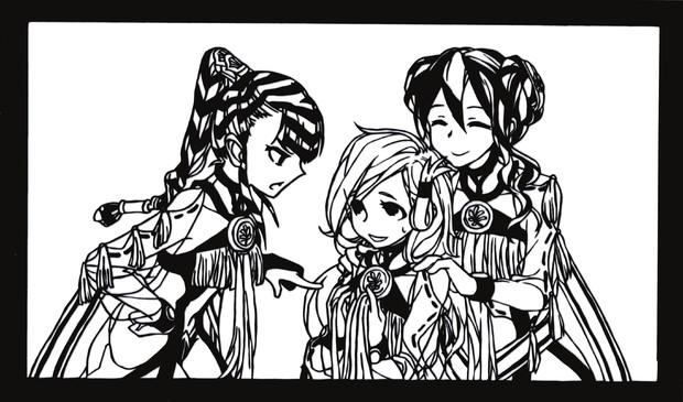 【切り絵】巫女候補3人組【YsⅧ】