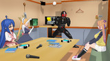 【MMD】カラオケで自らの歌を披露するブラックサン