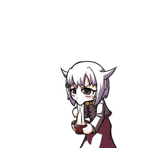 餅をすする幸子さん.GIF
