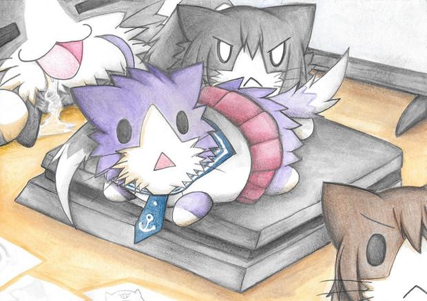 ゲーム機を占領する阿賀野型猫