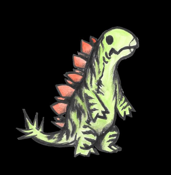 立つステゴサウルス