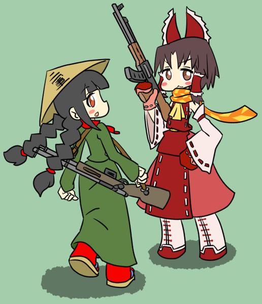 ライフルの似合う2人