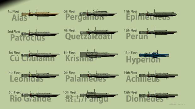 自由惑星同盟軍 旗艦群