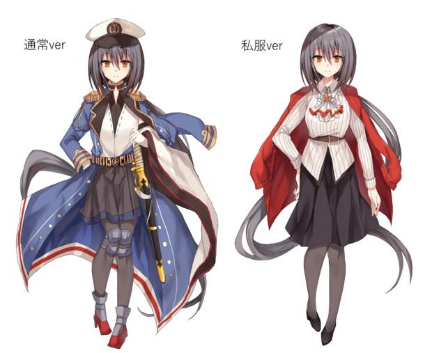 オリ艦三笠の立ち絵データ(フリー素材配布)