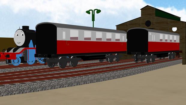 モデル改造(急行客車)