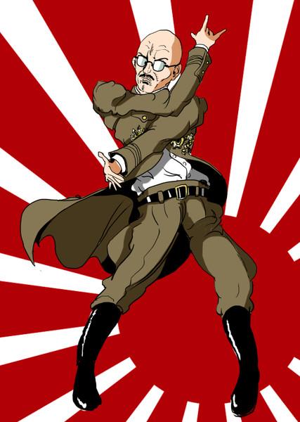 最近何かの漫画にハマってしまったっぽい第40代内閣総理大臣・東条英機おじさん