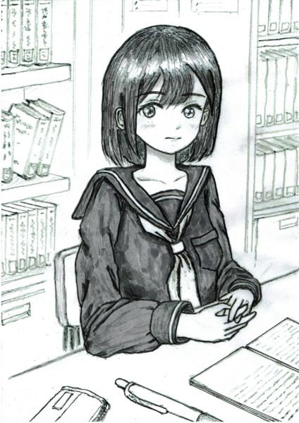 『 図書室で勉強してます゜。 』モノラル