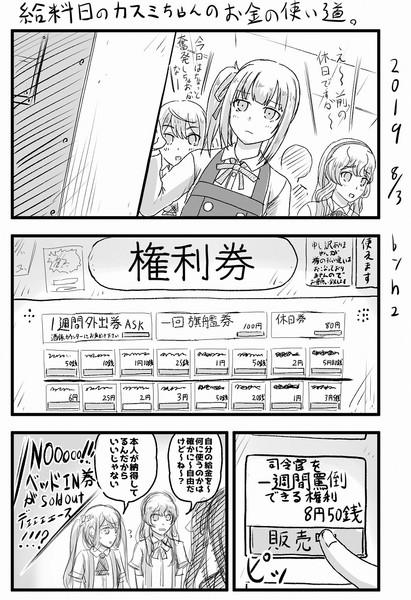 艦娘達の日常日和 Part23 給料日の霞ちゃんの使い道。