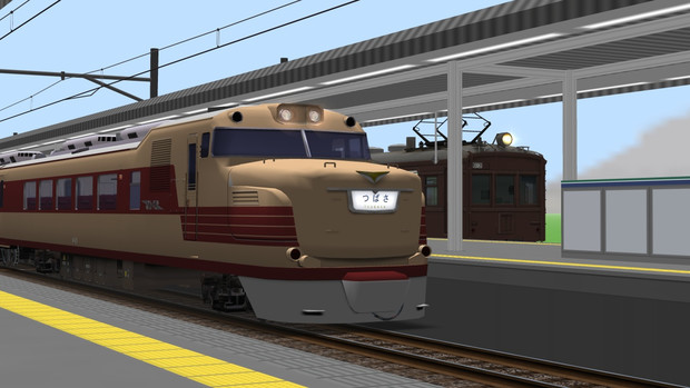 ちょっと昔の列車達。