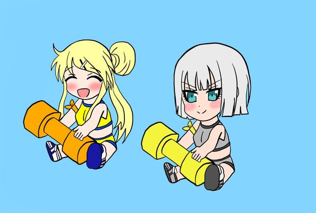 金と銀の東山奈央さんキャラのトレーニング