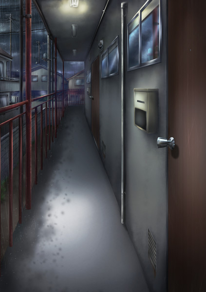 薄暗いアパート