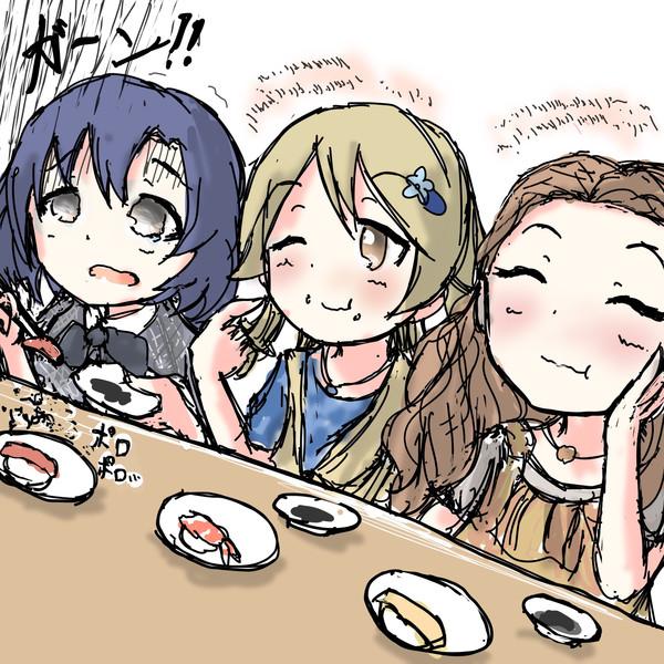 お寿司を食べるワンステップス