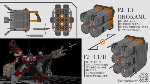 【ACMMD】FJ13 OHOKAMU & FJ-13/H【MMDモデル配布あり】