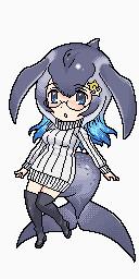 シロナガスクジラ【トレースドット絵】