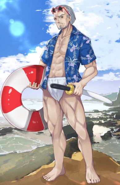 水着イベに水着剣豪として急遽参加することになった柳生さん